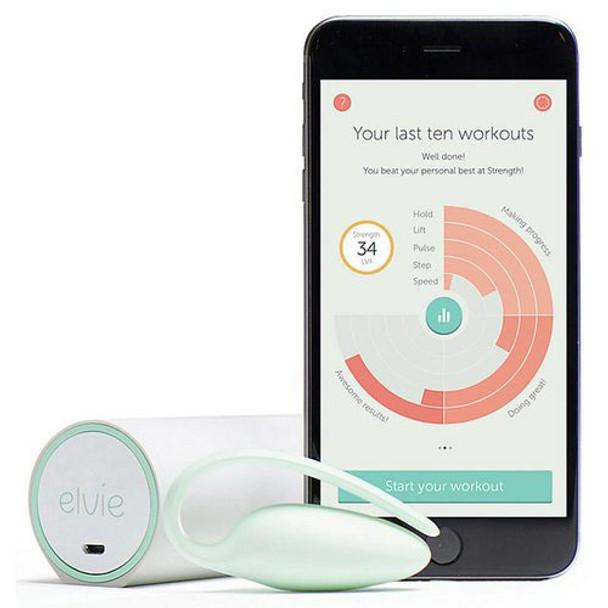 Elvie Kegel Exerciser & Pelvic Floor Muscle Exercise Tracker in use