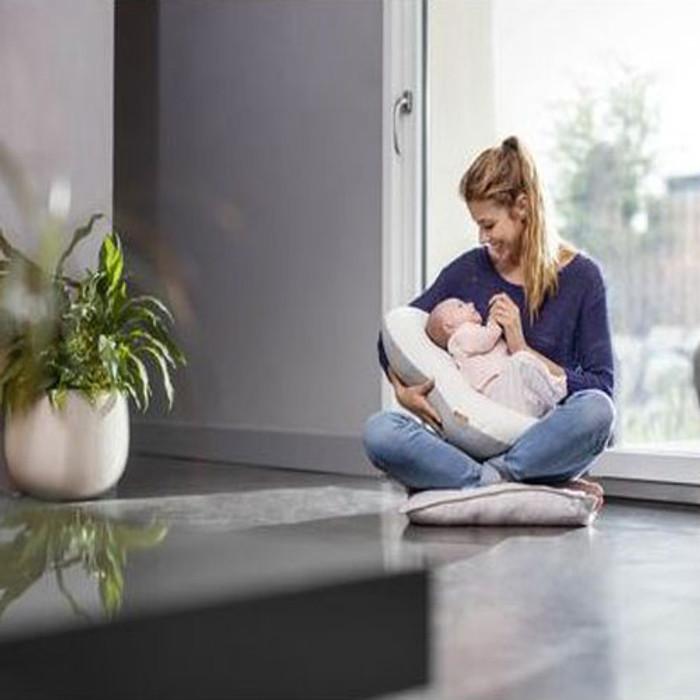 843cc40b33df ... Babymoov Mum & b - Ergonomic Maternity Cushion - Dotwork Grey nursing  ...
