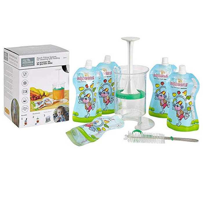 Fill 'n' Squeeze Starter Kit with 5 pouches & Brush