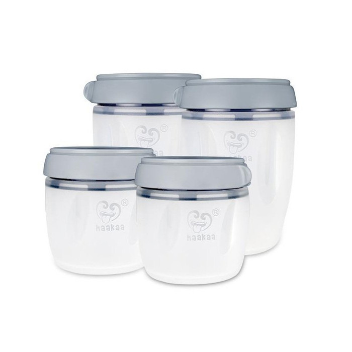 Haakaa Silicone Breast Milk Storage Set 160Ml X2 + 250Ml X2 4P