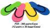 Slip-Resistant Rubber Strip Slipper - Case of 360 Pairs (FS5)