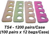 Toe Separators Multi Color - Case of 1200 Pairs (TS4)