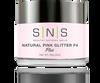 SNS Powder 2 oz - Natural Pink Glitter F4