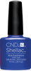 CND SHELLAC UV Color Coat - #91406 BLUE EYESHADOW - New Wave Collection .25 oz