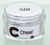Chisel Acrylic & Dipping 2 oz - Pink & White - CLEAR