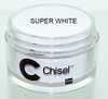 Chisel 2in1 Acrylic & Dipping 2 oz - Pink & White - SUPER WHITE