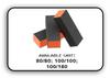 Buffer Block 3 Way - Orange/Black -  100/100 Grit (Pack/20 pcs)