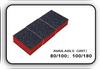 Mini Buffer 2 Way - Orange/Black - 100/180 Grit (Pack/30 pcs)