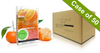 20% Off Voesh Case/50pks - Pedi in a Box - 4 Step Deluxe - Tangerine Twist (VPC208TGN)