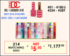 DND DC - Buy 209 Matching Duo #001-#180 (Out of stock 7 colors) & #254-#289 FREE SAMPLE TIP SET