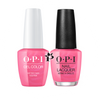 OPI Duo - GCN36A + NLN36 - HOTTER THAN YOU PINK .5 oz