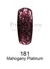DND DC Platinum Gel - 181 Mahogany Platinum .6 oz