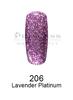 DND DC Platinum Gel - 206 Lavender Platinum .6 oz