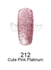 DND DC Platinum Gel - 212 Cute Pink Platinum .6 oz