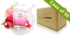 Voesh Case/50pks - Pedi in a Box - 4 Step O2 Bubbly Soak Spa - Raspberry Sorbet (VPC307RBS)