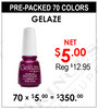 Gelaze Gel - Pre-Packed 70 Colors (Clearance - No Return)