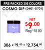 Cosmo Dip  Powder (D401-D701) - Pre-Packed 306 Colors (Clearance - No Return)