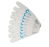 Chisel Nail File Half Moon 80/80 White Pack/30pcs
