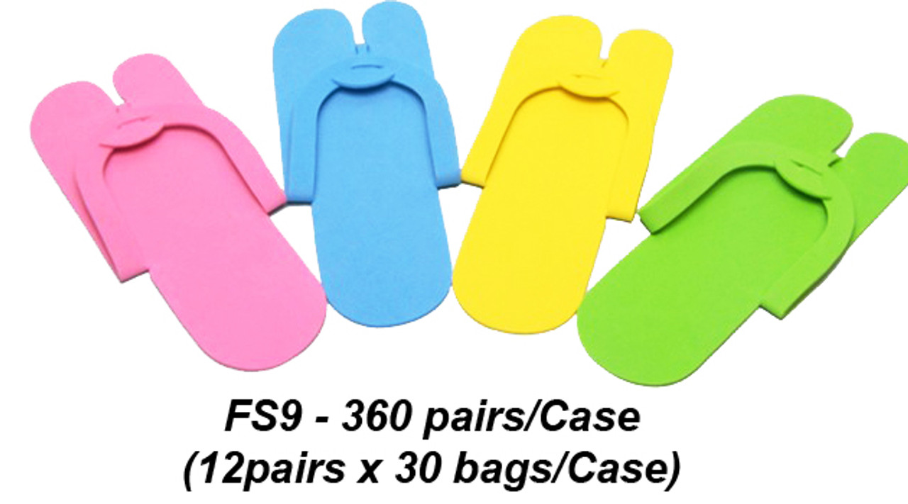 a0cfc9217f8 Notched Toe Foam Pedicure Slippers - Case of 360 Pairs - FS9 (Fold Type)