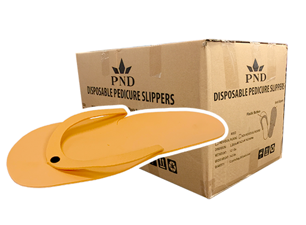 dc4dcb401d7 PND Pedicure Slippers - Button Type - Case 360 Pairs - Princess Nail Supply