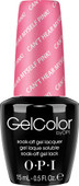 OPI GelColor (BLK) - #GCA72 - Can't Hear Myself Pink! - Brights Collection .5 oz
