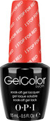 OPI GelColor (BLK) - #GCA74 - I STOP for Red - Brights Collection .5 oz