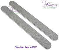 Princess Nail Files - 50 per pack - Zebra - Grit Options