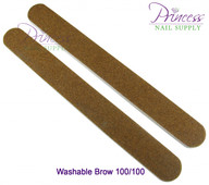 Princess Nail Files - 50 per pack - Washable Brown - Grit Options