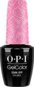 OPI GelColor (BLK) - #GCH83 - Look at My Bow! - Hello Kitty Collection .5 oz