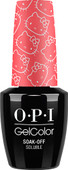 OPI GelColor (BLK) - #GCH85 - Spoken from the Heart - Hello Kitty Collection .5 oz