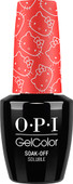 OPI GelColor (BLK) - #GCH89 - 5 Apples Tall - Hello Kitty Collection .5 oz