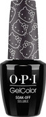 OPI GelColor (BLK) - #GCH91 - Never Have Too Mani Friends! - Hello Kitty Collection .5 oz
