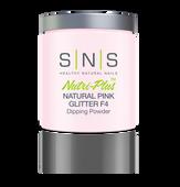 SNS Powder 16 oz - Natural Pink Glitter F4