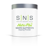 SNS Powder 16 oz - White Glitter F3