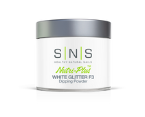 SNS Powder 4 oz - White Glitter F3