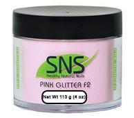 SNS Powder 4 oz - Pink Glitter F2