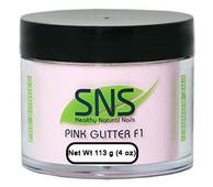 SNS Powder 4 oz - Pink Glitter F1