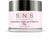 SNS Powder 2 oz - Natural Pink Glitter F4
