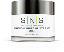 SNS Powder 2 oz - White Glitter F3