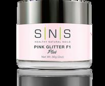 SNS Powder 2 oz - Pink Glitter F1
