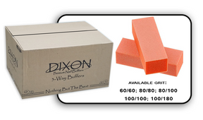 Buffer Block 3 Way - Orange/White - 80/100 Grit (Case/500 pcs)