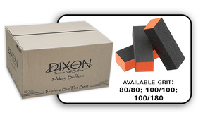 Buffer Block 3 Way - Orange/Black -  100/180 Grit (Case/500 pcs)
