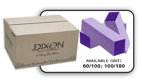 Buffer Block 3 Way - Purple/White -  100/180 Grit (Case/500 pcs)