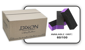 Buffer Block 3 Way - Purple/Black -  60/100 Grit (Case/500 pcs)