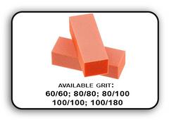 Buffer Block 3 Way - Orange/White -  60/60 Grit (Pack/20 pcs)