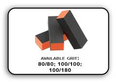 Buffer Block 3 Way - Orange/Black -  80/80 Grit (Pack/20 pcs)
