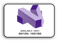 Buffer Block 3 Way - Purple/White -  60/100 Grit (Pack/20 pcs)
