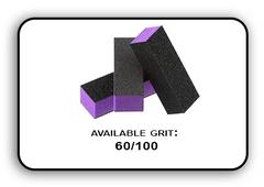 Buffer Block 3 Way - Purple/Black -  60/100 Grit (Pack/20 pcs)