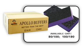 Slim Buffer - Purple/Black - 100/180 Grit (Case/500 pcs)