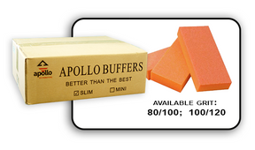 Slim Buffer - Orange/White - 100/120 Grit (Case/500 pcs)